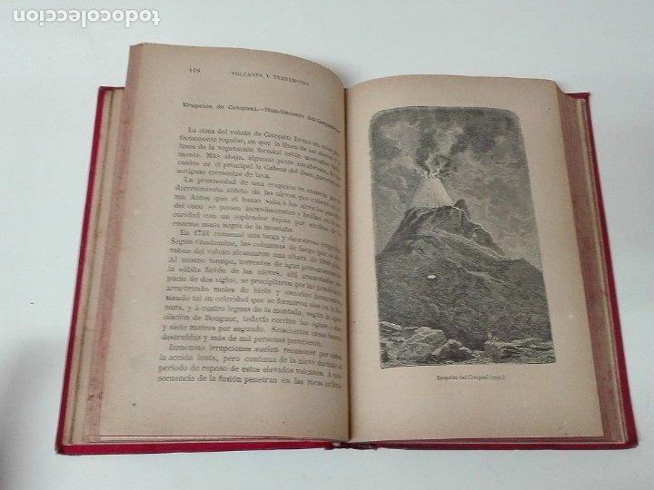 Libros antiguos: VOLCANES Y TERREMOTOS CECILIO NAVARRO 1885 ILUSTRADO - Foto 6 - 174686053