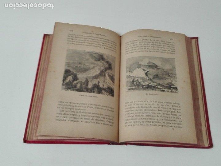 Libros antiguos: VOLCANES Y TERREMOTOS CECILIO NAVARRO 1885 ILUSTRADO - Foto 7 - 174686053