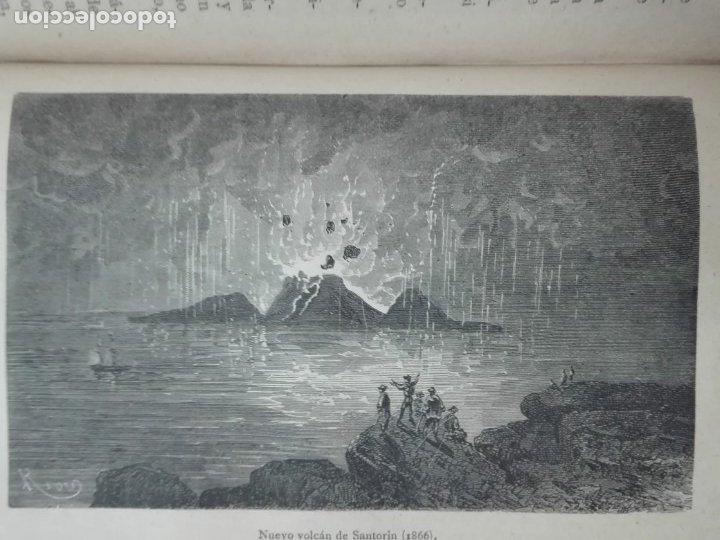 Libros antiguos: VOLCANES Y TERREMOTOS CECILIO NAVARRO 1885 ILUSTRADO - Foto 8 - 174686053