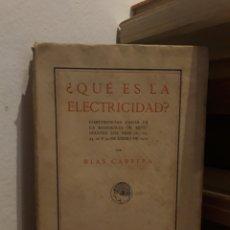 Libros antiguos: ¿QUE ES ELECTRICIDAD?. Lote 175088518