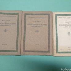 Libros antiguos: BOLETÍN DEL INSTITUTO DE INVESTIGACIONES AGRONÓMICAS 1935 Y 1939. Lote 175546188