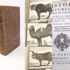 Libros antiguos: HISTOIRE NATURELLE PAR M DE BUFFON 1769, PARIS, SIGLO XVIII, 17CMX10CM, 474 PAG. Lote 176234270