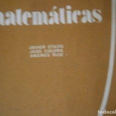 Libros antiguos: MATEMATICAS¡¡ESTADO DE FETUOSO,ALGUNA HOJA PINTADA¡¡AÑOS 70 80¡. Lote 176560083