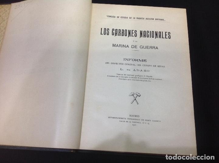 Libros antiguos: LOS CARBONES NACIONALES Y LA MARINA DE GUERRA. OVIEDO 1911. MINERÍA. ASTURIAS - Foto 7 - 176734267