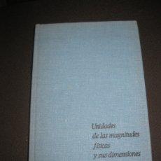 Libros antiguos: UNIDADES DE LAS MAGNITUDES FISICAS Y SUS DIMENSIONES. L.A. SERNA. EDITORIAL MIR. MOSCU. 1979.. Lote 176821248
