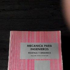 Libros antiguos: MECANICA PARA INGENIEROS,ESTATICA Y DINAMICA,W. G. MACLEAN Y E. W. NELSON. Lote 176992212