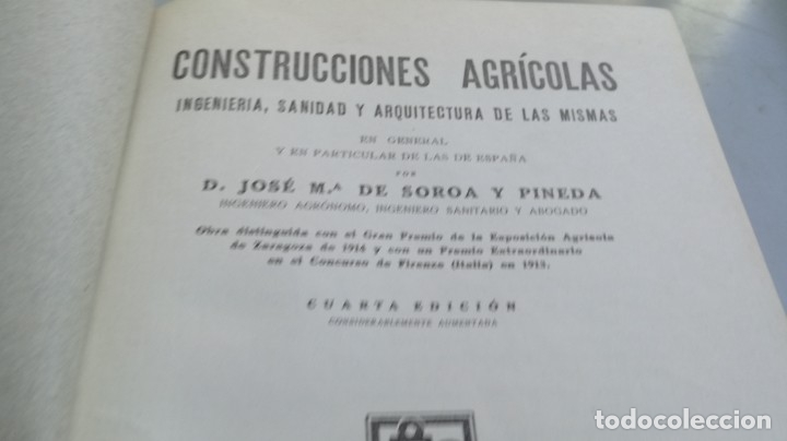 Libros antiguos: CONSTRUCCIONES AGRICOLAS - JOSE Mª DE SOROA Y PINEDA - 1930 RUIZ HERMANO EDITORES/ CO 31 - Foto 7 - 177626309