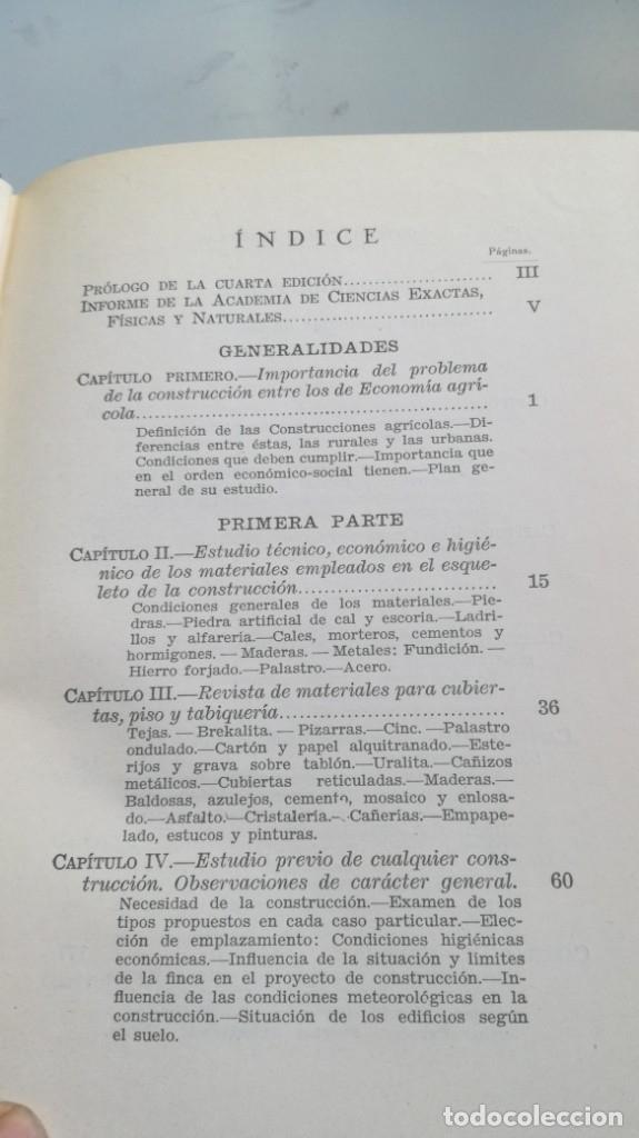 Libros antiguos: CONSTRUCCIONES AGRICOLAS - JOSE Mª DE SOROA Y PINEDA - 1930 RUIZ HERMANO EDITORES/ CO 31 - Foto 10 - 177626309