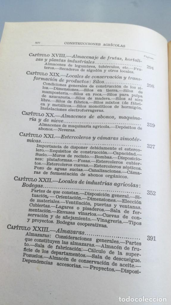 Libros antiguos: CONSTRUCCIONES AGRICOLAS - JOSE Mª DE SOROA Y PINEDA - 1930 RUIZ HERMANO EDITORES/ CO 31 - Foto 13 - 177626309