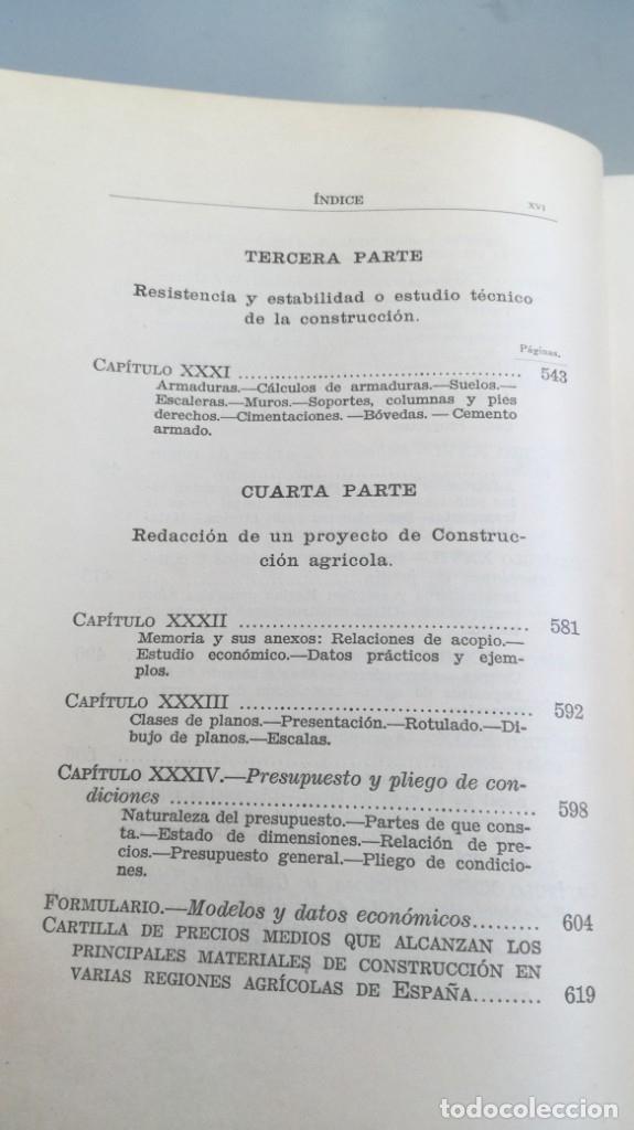Libros antiguos: CONSTRUCCIONES AGRICOLAS - JOSE Mª DE SOROA Y PINEDA - 1930 RUIZ HERMANO EDITORES/ CO 31 - Foto 15 - 177626309