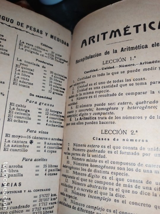 Libros antiguos: M.PORCEL Y RIERA GRADO SUPERIOR CURSO METODO CICLICO EN LA ENSEÑANZA PRIMARIA ARITMÉTICA 1904 UNICO - Foto 2 - 177969333