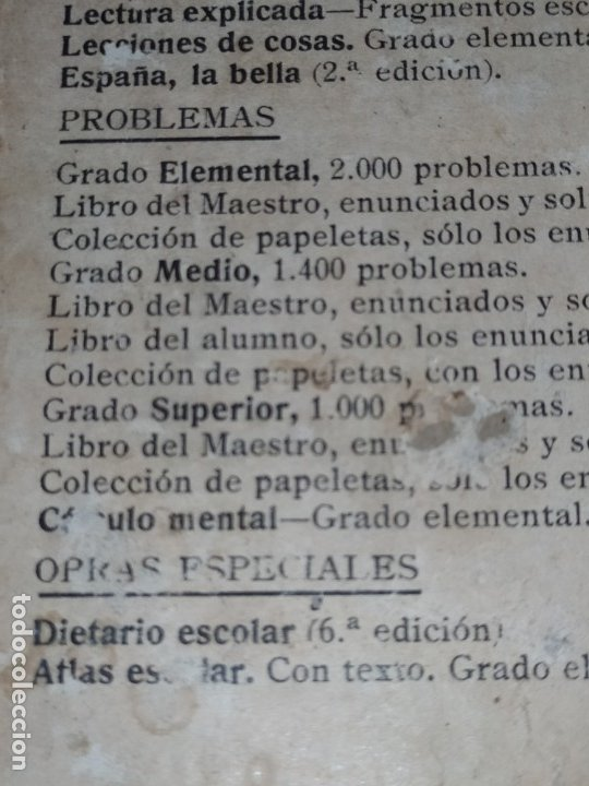 Libros antiguos: M.PORCEL Y RIERA GRADO SUPERIOR CURSO METODO CICLICO EN LA ENSEÑANZA PRIMARIA ARITMÉTICA 1904 UNICO - Foto 7 - 177969333