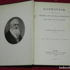 Libros antiguos: (MF) ALFRED RUSSEL WALLACE - DARWINISM THEORY OF NATURAL SELECTION WITH SOME OF ITS APLICATIONS. Lote 178128044