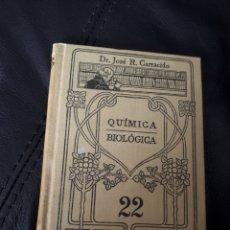 Libros antiguos: MANUALES GALLACH QUIMICA BIOLOGICA. 22. Lote 178208613