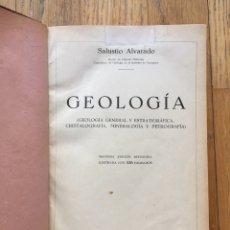 Libros antiguos: GEOLOGIA SALUSTIO ALVARADO 2 EDICION REVISADA, EDICION DE 2000 EJEMPLARES. Lote 178824397