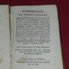 Libros antiguos: (MF) VIDENTE DE EL SEYXO - COMPENDIO DE OBSERVACIONES VIAGE POLITICO Y FILOSOFICO, MUNDO ANIMAL 1796. Lote 178875955