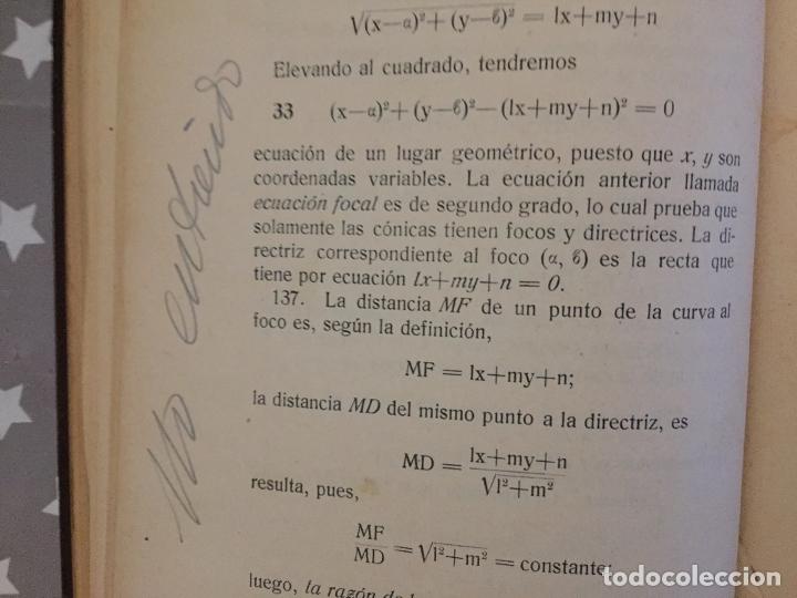 Libros antiguos: CURSO DE AMPLIACION DE MATEMATICAS, Tercera parte Geometria Analitica, Leopoldo Crusat 1927 - Foto 6 - 178990102