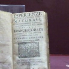 Livros antigos: ESPERIENZE INTORNO A DIVERSE COSE NATURALI E PARTICOLARMENTE A QUELLE CHE CI SON PORTATE DALL'INDIE. Lote 179033578