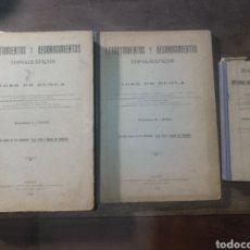 Libros antiguos: LEVANTAMIENTOS Y RECONOCIMIENTOS TOPOGRÁFICOS JOSÉ DE ELOLA. SECCIÓN AGRONÓMICA ALMERÍA 1908 1914. Lote 179048985