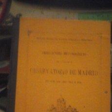 Libros antiguos: OBSERVACIONES METEOROLÓGICAS EFECTUADAS EN EL OBSERVATORIO DE MADRID DURANTE LOS AÑOS 1902 A 1905 (M. Lote 179316392