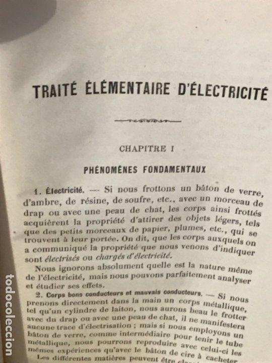Libros antiguos: traite elementaire delectricite pratique par R. boulvin 1890 electricidad practica a. Manceaux - Foto 8 - 180012590