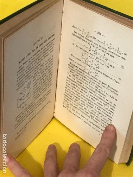 Libros antiguos: traite elementaire delectricite pratique par R. boulvin 1890 electricidad practica a. Manceaux - Foto 9 - 180012590