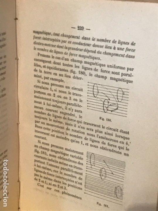 Libros antiguos: traite elementaire delectricite pratique par R. boulvin 1890 electricidad practica a. Manceaux - Foto 11 - 180012590