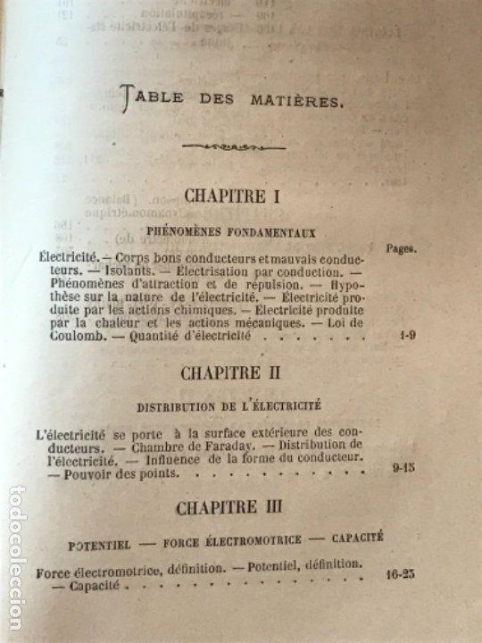 Libros antiguos: traite elementaire delectricite pratique par R. boulvin 1890 electricidad practica a. Manceaux - Foto 13 - 180012590
