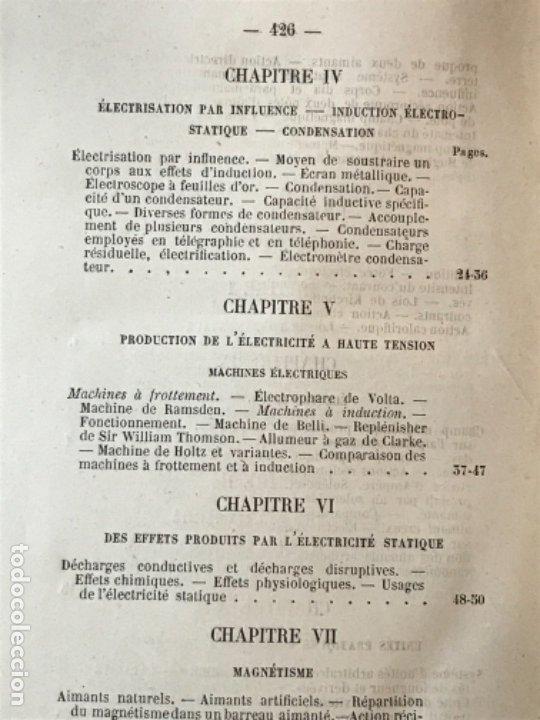 Libros antiguos: traite elementaire delectricite pratique par R. boulvin 1890 electricidad practica a. Manceaux - Foto 14 - 180012590