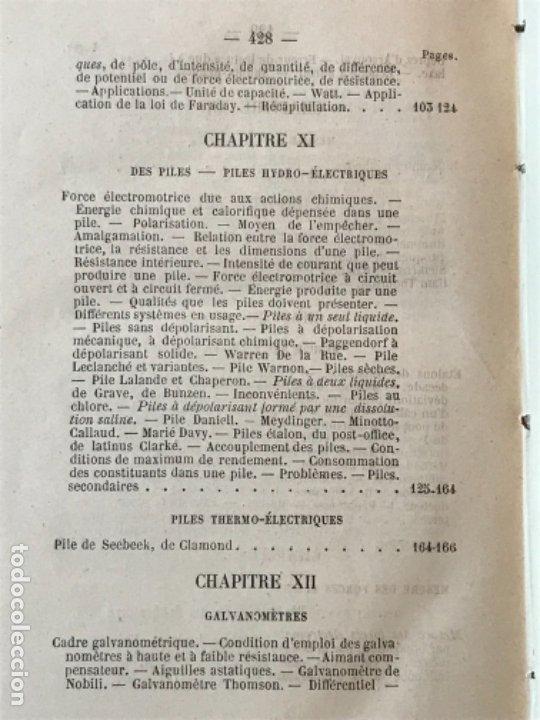 Libros antiguos: traite elementaire delectricite pratique par R. boulvin 1890 electricidad practica a. Manceaux - Foto 15 - 180012590