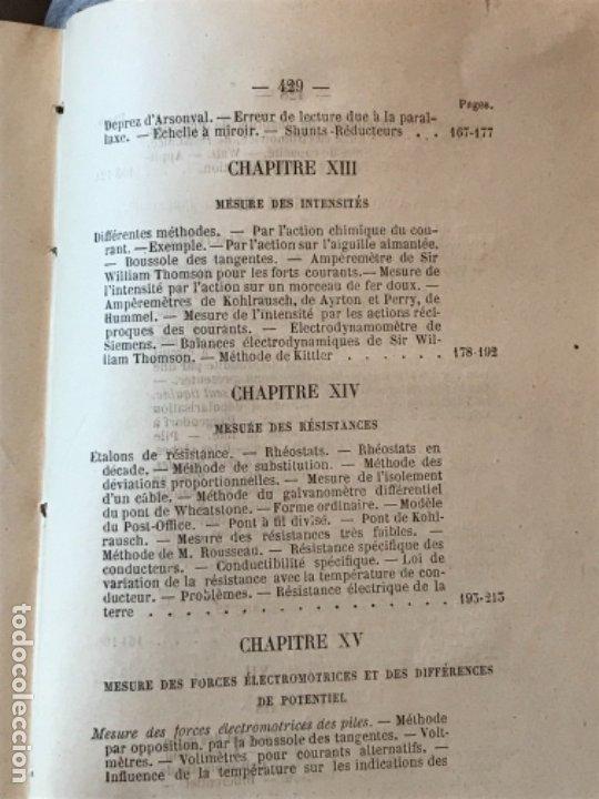 Libros antiguos: traite elementaire delectricite pratique par R. boulvin 1890 electricidad practica a. Manceaux - Foto 16 - 180012590