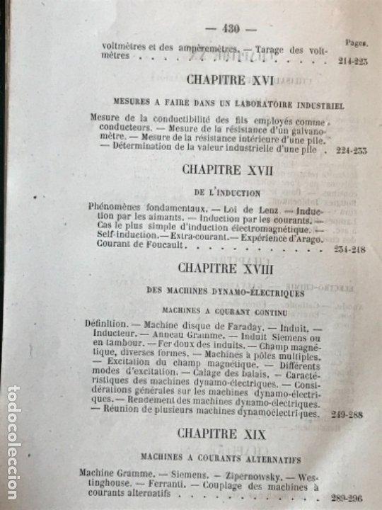 Libros antiguos: traite elementaire delectricite pratique par R. boulvin 1890 electricidad practica a. Manceaux - Foto 17 - 180012590