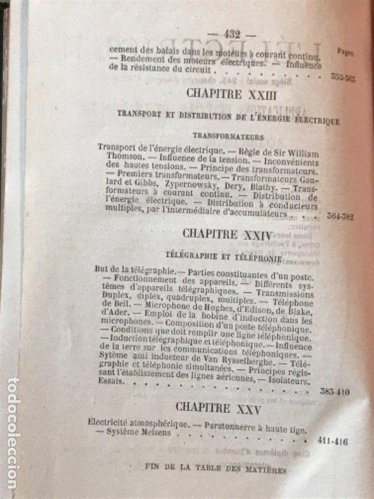 Libros antiguos: traite elementaire delectricite pratique par R. boulvin 1890 electricidad practica a. Manceaux - Foto 19 - 180012590