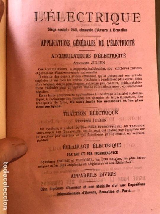Libros antiguos: traite elementaire delectricite pratique par R. boulvin 1890 electricidad practica a. Manceaux - Foto 20 - 180012590