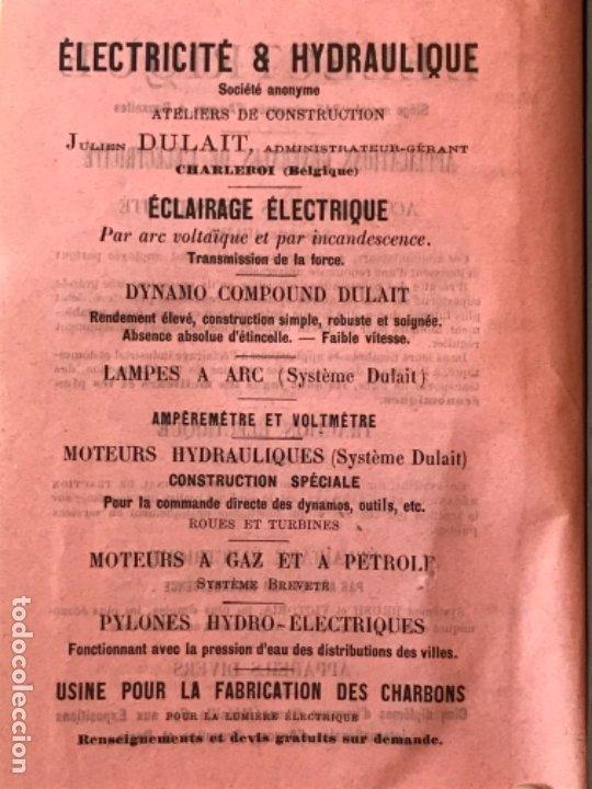 Libros antiguos: traite elementaire delectricite pratique par R. boulvin 1890 electricidad practica a. Manceaux - Foto 21 - 180012590