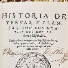 Libros antiguos: HISTORIA DE YERBAS Y PLANTAS, FACSIMIL.. Lote 180133648
