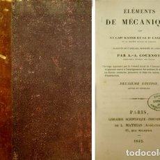 Libros antiguos: KATER (ET) LARDNER, DYONISIUS. ÉLÉMENTS DE MÉCANIQUE. 1842.. Lote 180332357