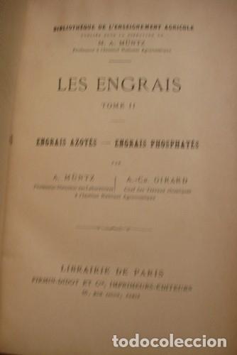 LES ENGRAIS TOME II - PORTAL DEL COL·LECCIONISTA ***** (Libros Antiguos, Raros y Curiosos - Ciencias, Manuales y Oficios - Bilogía y Botánica)