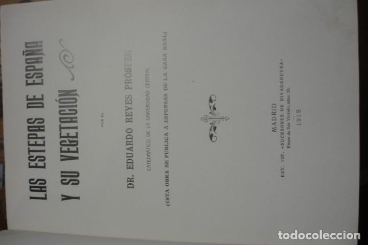 LAS ESTEPAS DE ESPAÑA Y SU VEGETACIÓN - PORTAL DEL COL·LECCIONISTA ***** (Libros Antiguos, Raros y Curiosos - Ciencias, Manuales y Oficios - Bilogía y Botánica)