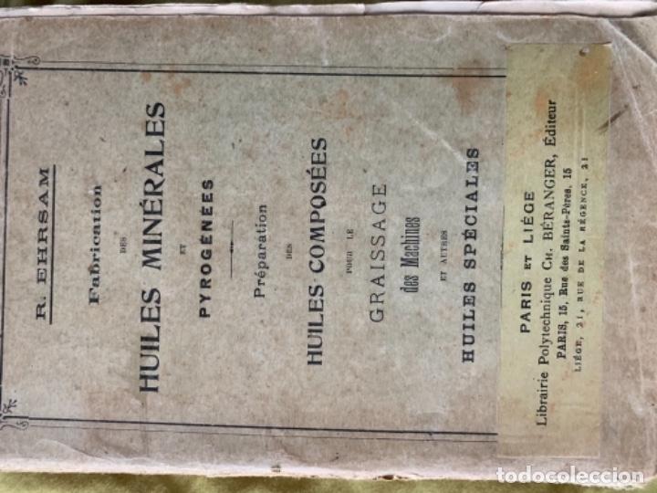Libros antiguos: Huiles minérales - Foto 2 - 180484396