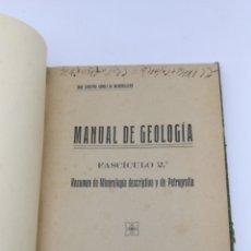 Libros antiguos: MANUAL DE GEOLOGÍA FASCÍCULO 2 1918. Lote 181551000