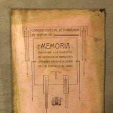 Libros antiguos: COMISIÓN ESPECIAL DE POMOLOGÍA DE GUIPÚZCOA, MEMORIA PRESENTADA EN LA DIPUTACIÓN EN 1917. Lote 182223857
