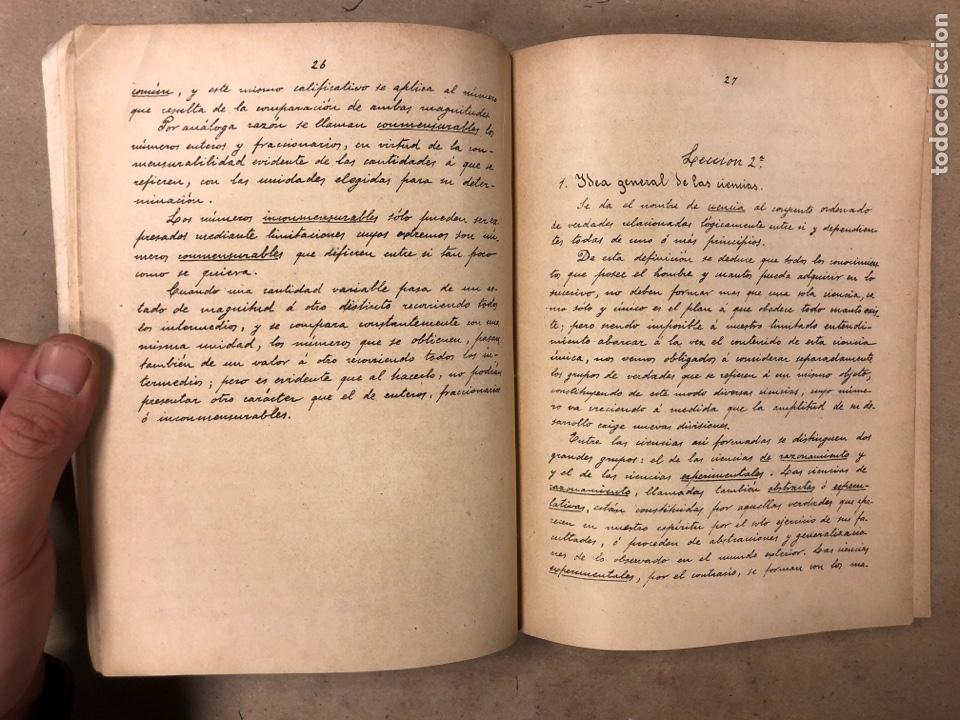 Libros antiguos: RESUMEN DE LAS LECCIONES DE ANÁLISIS MATEMÁTICO (CURSO 1893-1894). D. MIGUEL MORZAL BERTOMEN - Foto 3 - 182235415