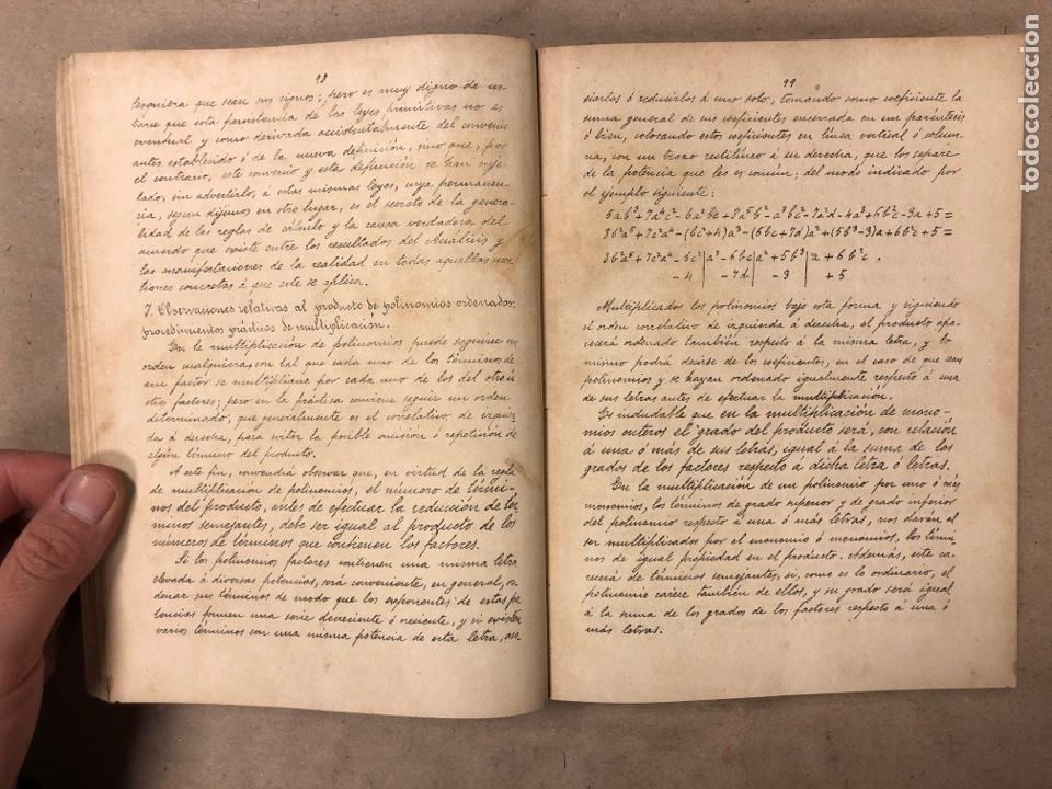 Libros antiguos: RESUMEN DE LAS LECCIONES DE ANÁLISIS MATEMÁTICO (CURSO 1893-1894). D. MIGUEL MORZAL BERTOMEN - Foto 4 - 182235415