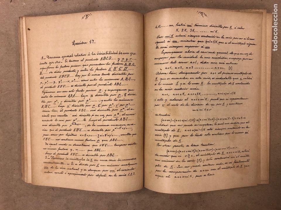 Libros antiguos: RESUMEN DE LAS LECCIONES DE ANÁLISIS MATEMÁTICO (CURSO 1893-1894). D. MIGUEL MORZAL BERTOMEN - Foto 5 - 182235415