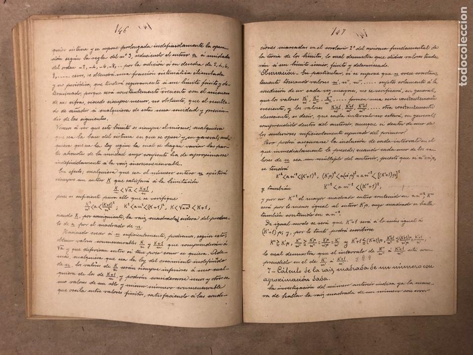 Libros antiguos: RESUMEN DE LAS LECCIONES DE ANÁLISIS MATEMÁTICO (CURSO 1893-1894). D. MIGUEL MORZAL BERTOMEN - Foto 6 - 182235415