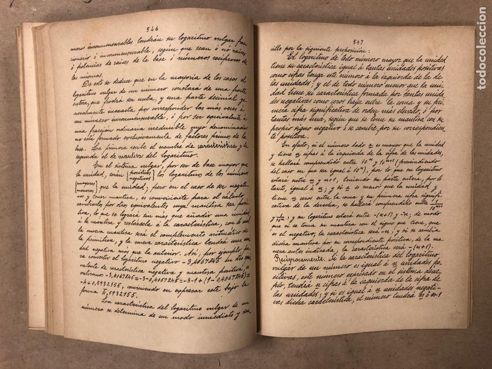 Libros antiguos: RESUMEN DE LAS LECCIONES DE ANÁLISIS MATEMÁTICO (CURSO 1893-1894). D. MIGUEL MORZAL BERTOMEN - Foto 7 - 182235415