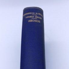 Libros antiguos: QUÍMICA TRES OBRAS CONSERVAS ALIMENTICIAS - SUSTANCIAS ANIMALES - ABONOS AÑO 1900. Lote 182166311