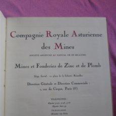 Libros antiguos: CATALOGO INDUSTRIA COMPAGNIE ROYALE ASTURIENNE DES MINES ANTIGUO. Lote 182283250