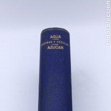 Libros antiguos: TRATADO QUÍMICA TRES OBRAS EL AGUA - MARINA FECULAS - EL AZÚCAR 1898 1899. Lote 182283342